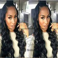 Wholesale Long Brown Wavy Wigs Prices - Wholesale Price Human Hair Lace Front Wigs Wavy Boby Wave Human Hair Full Lace Wig With Bleached Knots For Black Women In Stock