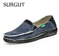 Wholesale Low Price Blue Jeans - New arrival Low price Mens Breathable High Quality Casual Shoes Jeans Canvas Casual Shoes Slip On men Fashion Flats Loafer