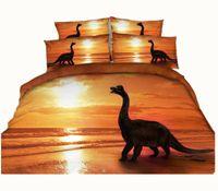 Wholesale Dinosaur Bedding Queen - 4 Styles Fashion Orange Dinosaur Animal 3D Printed Bedding Set Twin Full Queen King Size Duvet  Quilt Cover Pillowcase Comforter 600TC 3 4PC