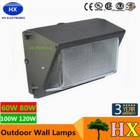 Wholesale Ip66 Led Driver - UL DLC Approve Outdoor LED Wall Pack Light 100W 120W Industrial Wall Mount LED Lighting Daylights 5000K AC 90-277V With Mean Well Driver