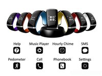 Wholesale google phone calls - L12S OLED Touch screen Bluetooth 3.0 Bracelet Wrist Watch For iPhone HTC Google Nokia Android Windows Phone For Free Shipping