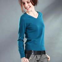 Wholesale Choose Computer - Wholesale-Women's Wool Cashmere Sweater Collar Multicolor Can Choose Any Combination Of Autumn And Winter Fashion Knitting Pullover
