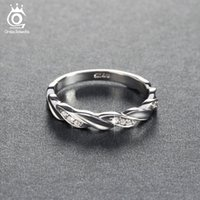 Discount nickel free jewelry settings wholesale - ORSA JEWELS Women Wedding Band Lead & Nickel Free Nice Engagement Rings Double Twist With CZ For Female Jewelry OR18