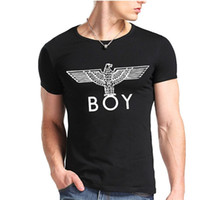 Wholesale Designer Men S T Shirt - Fashion Hip-hop BOY Print T shirt Short Sleeve Casual Summer T Shirts Black White Gray Red Unisex Designer Shirt Tops JDF0419