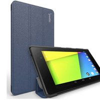 Wholesale Google Nexus Slim Case - Wholesale-(2013 Release) Poetic PU Leather Folding Folio Case for Google Nexus 7 2nd Gen II 2 Navy Ultra Slim Nexus 7 Case Tablet Cover