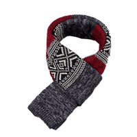 Wholesale Wholesale Wool Hats Gloves - Wholesale-The New 2015 Winter Scarf Fashion Men color mixing Comfortable Scarf thick warm wool Scarf 4 Colors 14.1