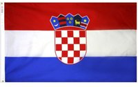 Wholesale Polyester Car Flags - CROATIA CROATIAN FLAG WITH BRASS GROMMETS Flags Custom City Country banner car racing Flag Custom any Team House Divided Flag