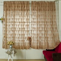 1M * 250Cm Window Shades Jacd Cortina Caffe Cor Light Transthrough Calssic Window Gauze Living Room Cortinas Para Decoração De Quarto Atacado