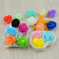 FREE SHIPPING 10Colors 50pcs / sacchetto del PE Foam Rose a mano fai da te Wedding decorazione domestica multi-uso testa di fiore artificiale