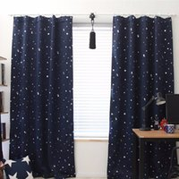 Wholesale curtains for children - Wholesale 139cm x190cm Star Kids Child Bedroom curtains with 5 colors Blackout Thermal Solid Window Curtain For Living room Decor