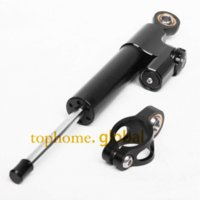 Wholesale R6 Steering Damper - CNC Motorcycle Accessories Steering Damper Stabilizer Linear Reversed Black For Yamaha YZF R6 1999-2000 2001 2002 2003 2004