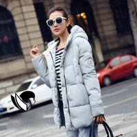 Wholesale warm ladies hooded parka coat - Cotton Wadded Parkas Fashion Women Coat Windproof outwear Winter Jacket And Coat Women 2017 Warm Womens Down Jacket Ladies Coats