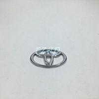 Wholesale Toyota Auto Emblem - 10pcs lot Auto Accessories 65mm*42mm ABS Chrome Silver Steering Wheel Center Emblem Badge Sticker 3D Logo For Toyota