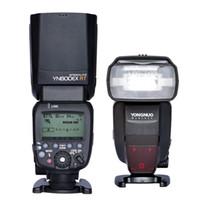 luz de flash yongnuo al por mayor-YONGNUO Speedlite YN600EX-RT GN60 2.4G Wireless HSS 1 / 8000s Master Flash Light para cámara réflex digital Canon 600EX-RT ST-E3-RT