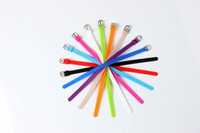 Wholesale Watch Rubber Wristbands - 8MM environmental silicone rubber wristband soft candy color silicone children DIY hand bracelet multi - color optional watch belt