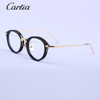 Wholesale High Quality Spectacles - 2016 browne glasses eyewear women fashion retro metal glasses frame eye glasses spectacles tb 011 High quality Men Eyeglasses Frame Brand Gl