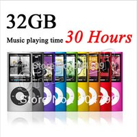Wholesale Mp4 Player 4th Gen - Hot popular professional NEW 9 COLORS 8GB 16GB 32GB FM VIDEO 4TH GEN MP4 PLAYER Free shipping wholesale & dropshipping