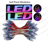 Wholesale Led 2811 - NEW DC5V 12mm WS2811 LED Pixel module IP68 waterproof full color RGB string christmas LED light Addressable 2811 IC free shipping MYY