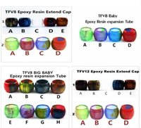 Wholesale Hot Expansion - Hot sale Resin Replacement tube for SMOK TFV8 TFV8 Baby TFV8 Big Baby TFV12 tank Expansion tank Epoxy resin tube Drip Tip big Capacity DHL