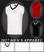 Wholesale Black Sweater Vest Men - 2017 TI golf vest sleeveless rabbit woollen keep warm smooth touching sweater 3 color OEM available