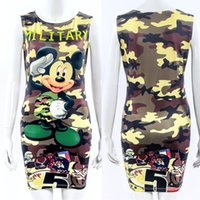 Wholesale Cartoon Print Bodycon - Summer Style 3XL Plus Size Women Clothing 2016 Sexy Casual Cartoon Print Vestidos Party Slim Bodycon Mini Women's Dresses