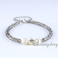 Wholesale baroque pearls bracelets - baroque pearl bracelet baroque pearl bracelet boho bracelets bohemian style jewelry white pearl jewellery