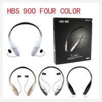 Wholesale Earphones S4 - Bluetooth HBS Headphone HBS 900 HBS900 Wireless Sport Neckband Headset In-ear Headphone Earphone For iphone Samsung 5S S4 Note DHL FreeE