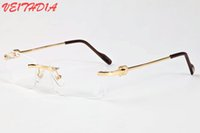 Wholesale unique eyewear for sale - Group buy Lunettes Women Unique Hollow Alloy Rimless Sunglasses For Men Personality Brand Designer Oversized Sunglasses Eyewear Frame