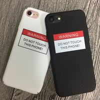 Wholesale Couples Iphone - Couple Black White for Apple iPhone 6S case iPhone7 7plus case mobile phone shell matte matte hard couple package phone case