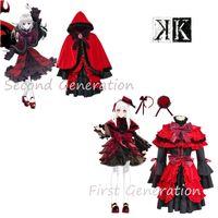 Wholesale Cosplay K Anime - K Project K RETURN OF KINGS Kushina Anna Strain Homra cosplay Costume Full Set Red Lolita dress