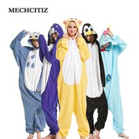 2017 Halloween Autunno Inverno Pigiama Imposta Cartoon Sleepwear 20 Modello Donna Flanella Animal Tigger Pigiama Alta qualità