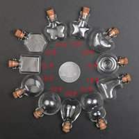 30pcs Clear Wishing Flasche Anhänger Leere Korken Glas Hand-Blown Vial Halskette