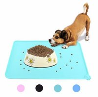 Wholesale Dog Wipes - Wipe Clean Pet Supplies Pet Dog Puppy Cat Feeding Mat Pad Cute Silicone Bed Dish Bowl Food Water Feed Placemat 6 Colors b221