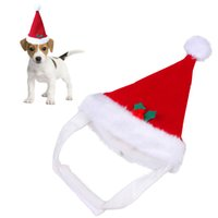 Wholesale Warm Santa Hat - Red Warm Santa Hat Festivals Christmas Parties for Pets Puppy Kitten Winter Christmas Decoration Party New