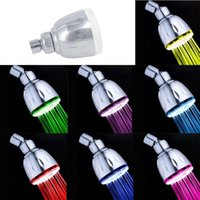 Wholesale led light water shower - Automatic Control 7 Colors Change Water Glow LED Light Shower Head Ducha Rain Showers Heads Showerhead rainfall duchas shower accessories
