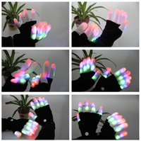 Guantes en blanco y negro LED night light flash light entertainment cheer gloves