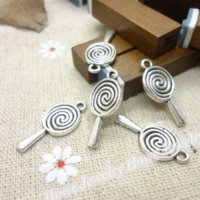 70 pcs Vintage Charms Lollipops Pendant Antique Silver Fit Braceletes Colar DIY Metal Jewelry Making Charms