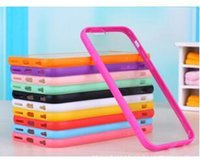 Wholesale Iphone 5c Case Jelly - Hybrid Frosted Matte Hard Plastic Back Cover Soft Candy Jelly Silicone TPU Bumper Frame Clear PC Case Skin Shell for Iphone 4 4S 5 5G 5C