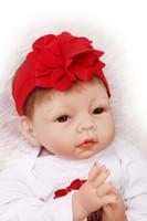 "Wholesale Reborn Baby Girl Sleeping - Wholesale- Bebe reborn NPK soft silicone reborn baby girl dolls 22"" children sleeping dolls play house toys gift bonecas brinquedo menino"