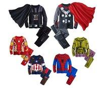 Wholesale Kids Spiderman Tracksuit - children pajamas cosplay Cartoon Boy Pajamas Sleepwear Star Wars Avengers Iron Man Spiderman boy tracksuit kids clothing set