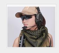 militärische taktische masken großhandel-Tactical Military winddicht Muslim Hijab Shemagh Wüste Arabisch Keffiye Airsoft Shemagh Kafiya Schal Maske grün