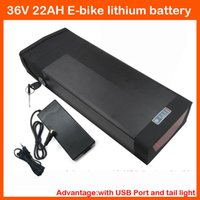 Wholesale Used Tail Lights - High quality 1000W 36V 22AH Electric Bike Lithium Battery Use 2200mah cell With USB Port and Tail light ,30A BMS and 2A Charger