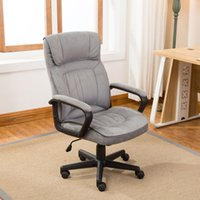 Wholesale Leather Chair Pads - Executive Office Chair Lumber Support Computer Desk Padded Microfiber, Gray