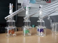 Wholesale tire perc bongs for sale - Group buy Colorful Hitman Glass Bongs Classic Brilliance Cake Smoking Pipe oil Rigs Water Pipes with tire perc mm male joint