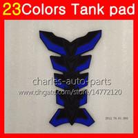 Wholesale Gas Tank Cap Pad - 3D Carbon Fiber Gas Tank Pad Protector For KAWASAKI NINJA EX250 08 09 10 11 12 EX 250 2008 2009 2010 2011 2012 3D Tank Cap Sticker 23Colors