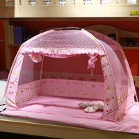 Wholesale Baby Folding Mosquito Net - Wholesale-Cheap New Infants Baby Folding Mosquito Net Portable Baby Bed Crib Mosquito Net Protetor Mosquiteiro Nets for Girl and Boy Bed
