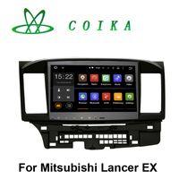 mitsubishi radio bluetooth toptan satış-10.2 Dokunmatik Ekran Android 5.1 Sistemi Araba DVD Mitsubishi Lancer EX Radyo Kaydedici GPS Navi BT Telefon RDS WIFI 3G OBD DVR 1024 * 600