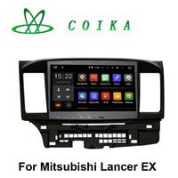 mitsubishi radio bluetooth al por mayor-10.2 Pantalla táctil Android 5.1 Sistema DVD del coche para Mitsubishi Lancer EX Radio Recorder GPS Navi BT Guía telefónica RDS WIFI 3G OBD DVR 1024 * 600