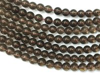 Wholesale Loose Smoky Crystal - Wholesale 4-18MM Natural Genuine AA Smoky Quartz Tea Crystal Round Loose Stone Beads DIY Necklace, bracelet