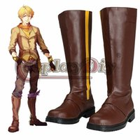 All'ingrosso-RWBY Yang Xiao Long Cosplay Stivali adulto Uomini Halloween Carnival Party Cosplay scarpe su misura